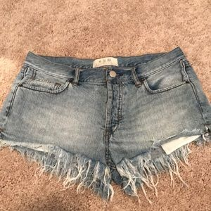 Free People Denim Shorts